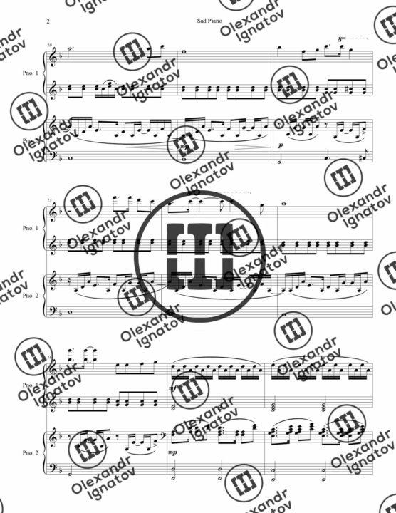 Olexandr Ignatov – Sad Piano (Sheet Music)