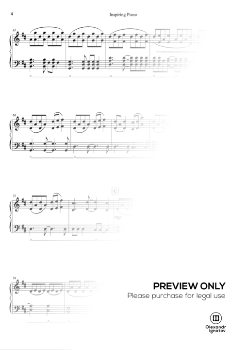 "Olexandr Ignatov – ""Inspiring Piano""  Sheet Music"